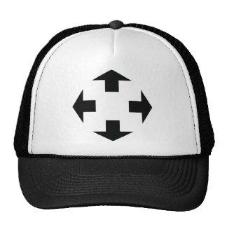 four black arrows icon trucker hat