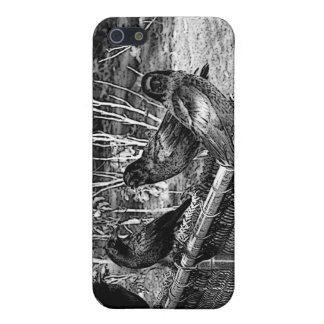Four Black Crows Sitting on Fence Case For iPhone SE/5/5s