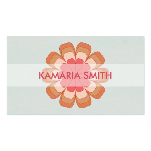 Four Blossoms Standard Size Business Card