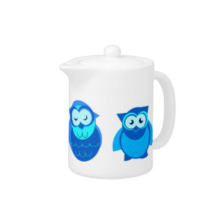 Four Blue Owls Teapot