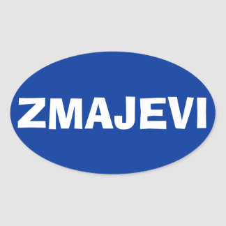 "FOUR Bosnia National Football Team ""Zmajevi"" Oval Sticker"