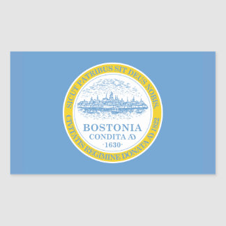FOUR Boston Flag Rectangular Sticker