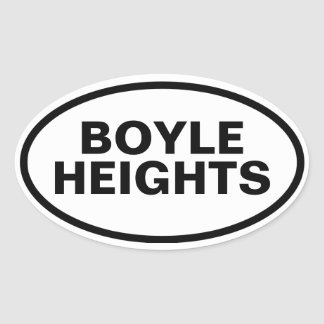 """FOUR """"Boyle Heights"""" Oval Stickers"""