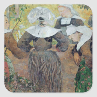 Four Breton Women, 1886 Square Sticker