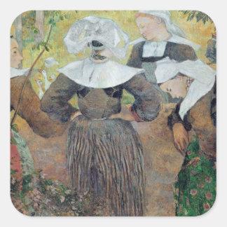 Four Breton Women, 1886 Stickers