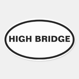 FOUR Bronx, High Bridge Oval Sticker