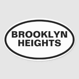 FOUR Brooklyn Heights Oval Sticker