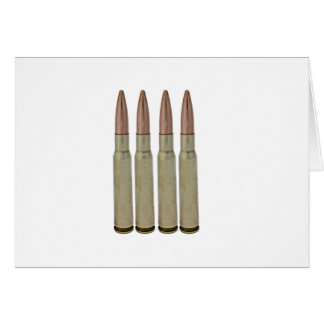 Four Bullets Greeting Cards
