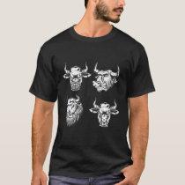 Four Bulls Vintage Style Bull T-Shirt