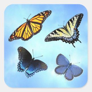 Four Butterflies Sticker