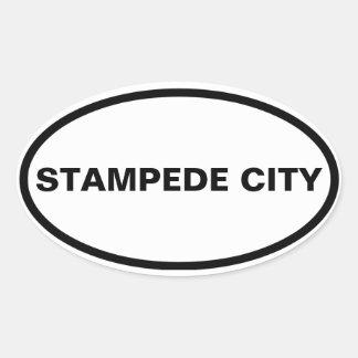 "FOUR Calgary ""STAMPEDE CITY"" Oval Sticker"