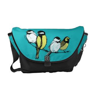 Four calling birds messenger bag