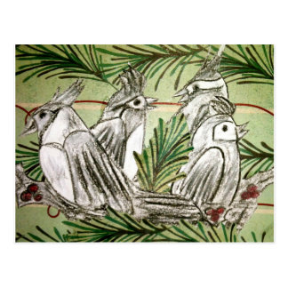 Four Calling Birds Postcard