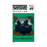 Four Calling Birds Stamps