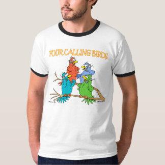 Four Calling Birds Tshirt