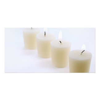 four candles photo greeting card