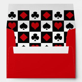 Four card suits envelope