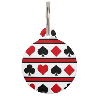 Four card suits pet tag
