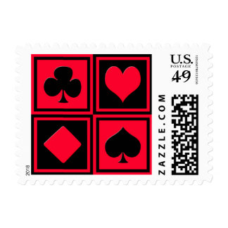 Four card suits postage