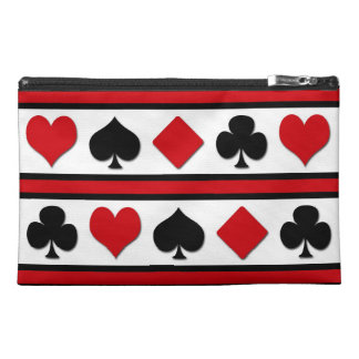 Four card suits travel accessory bag