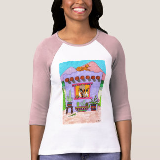 Four Cats at a Purple Adobe House T Shirts