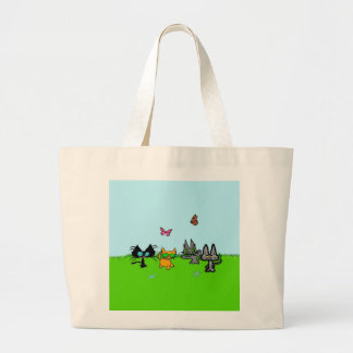 Four Cats Go Out To Play Canvas Bag