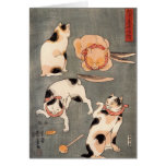 Four Cats Playing Together Greeting Card