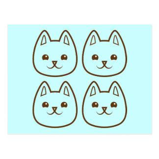 Four CATS Postcard