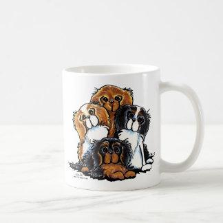 Four Cavalier King Charles Spaniels Classic White Coffee Mug