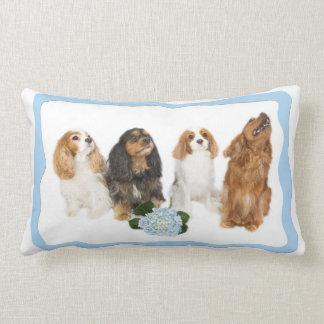 Four Cavalier King Charles Spaniels Lumbar Pillow