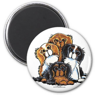 Four Cavalier King Charles Spaniels 2 Inch Round Magnet