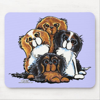 Four Cavalier King Charles Spaniels Mouse Pad