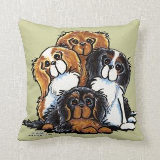 Four Cavalier King Charles Spaniels Throw Pillows