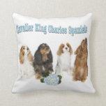 Four Cavalier King Charles Spaniels Pillow