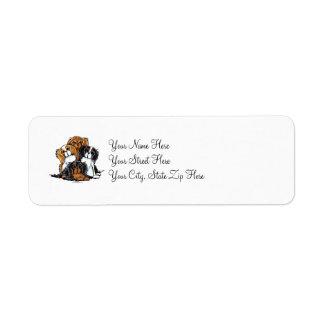 Four Cavalier King Charles Spaniels Return Address Label