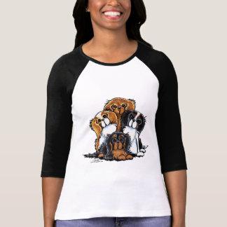 Four Cavalier King Charles Spaniels T Shirts