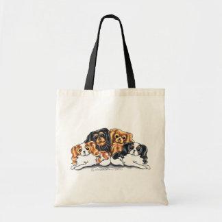 Four Cavalier King Charles Spaniels Tote Bag