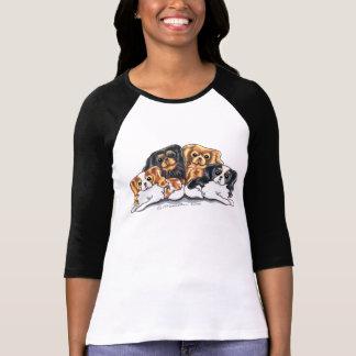 Four Cavalier King Charles Spaniels T-shirts