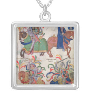 Four cavaliers, from the silver plated necklace