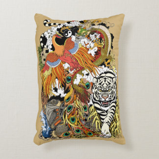 four celestial animals accent pillow