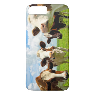 Four chatting cows interrupted in their daily chit iPhone 7 plus case
