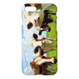Four chatting cows interrupted in their daily chit iPhone 8/7 case