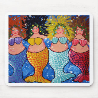 Four Chubby Mermaids Mousepads