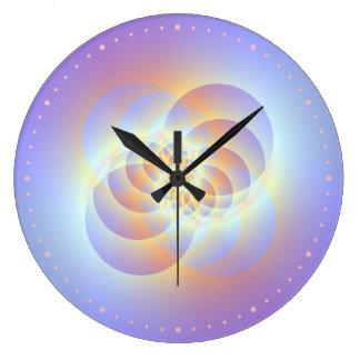 Four Circles Spiral Wall Clock