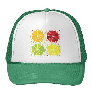 Four citrus fruits trucker hat