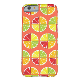 Four citrus fruits pattern barely there iPhone 6 case