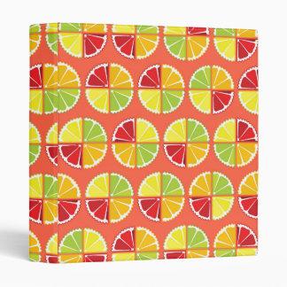Four citrus fruits pattern binder