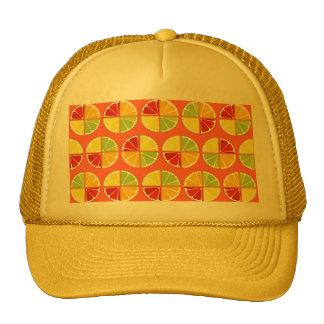 Four citrus fruits pattern hat