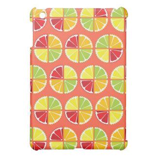 Four citrus fruits pattern iPad mini cases