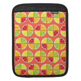 Four citrus fruits pattern sleeves for iPads
